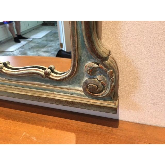 Antique Aqua-Painted Mirror & Console - Image 4 of 5