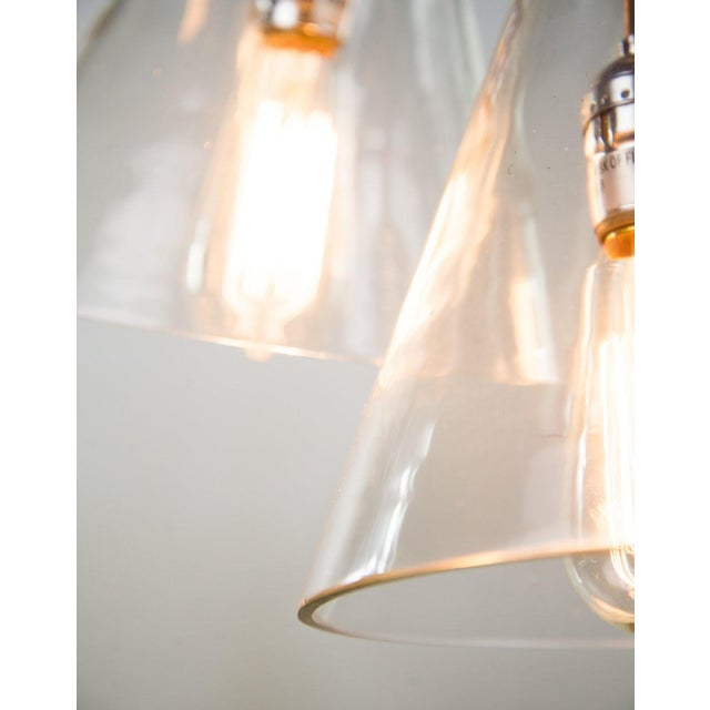 Triple Cone Hanging Light For Sale In Atlanta - Image 6 of 10
