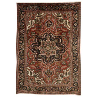 20th Century Traditional Persian Heriz Rug - 6′11″ × 9′9″ For Sale