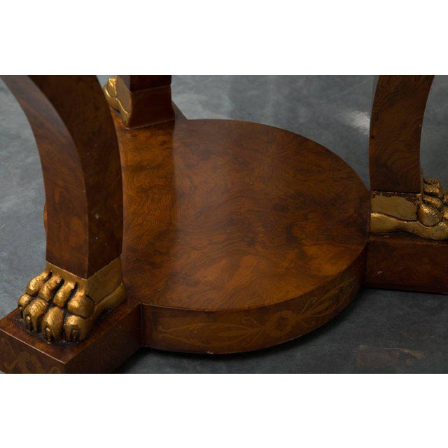 Empire Style Walnut Circular Table For Sale - Image 4 of 9