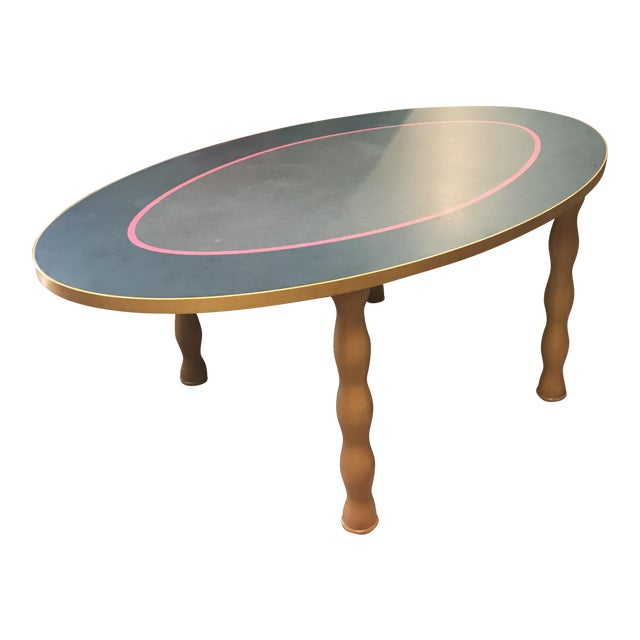 Contemporary Oval Dining Table - Image 1 of 7