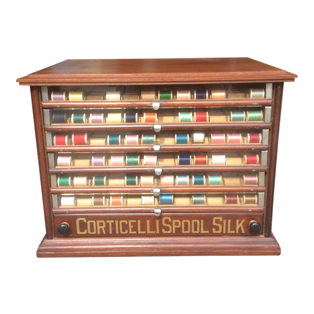 Antique Mercantile Spool Cabinet For Sale