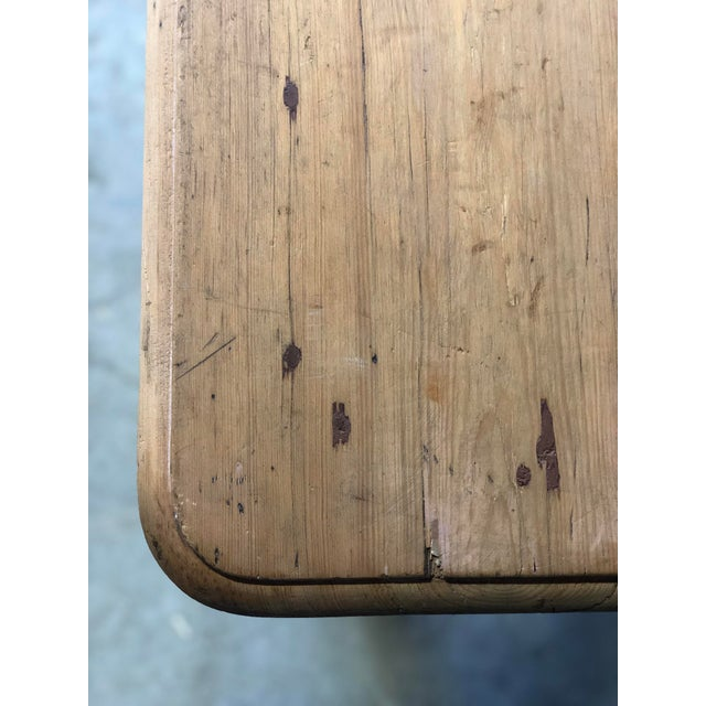Wood Antique French Farm Table For Sale - Image 7 of 8