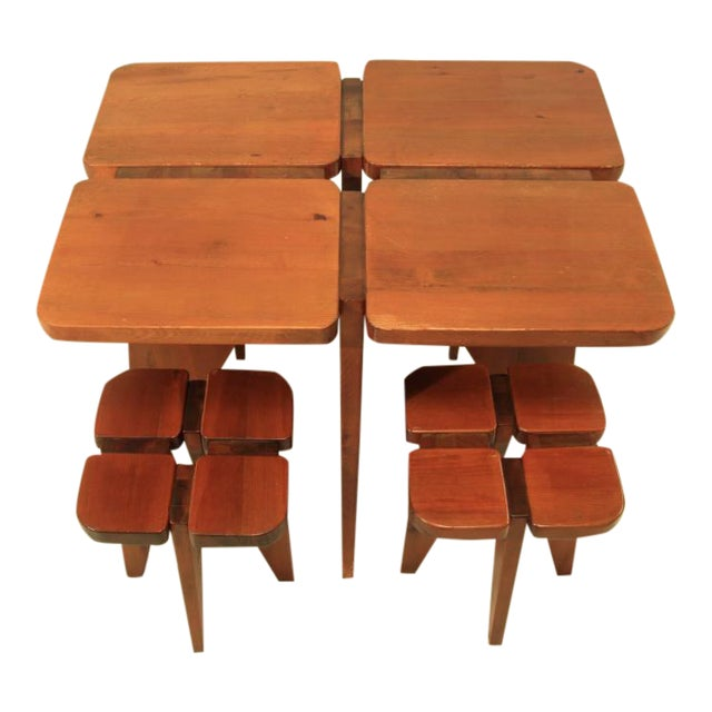 Lisa Johansson-Pape table and stools - Image 1 of 5
