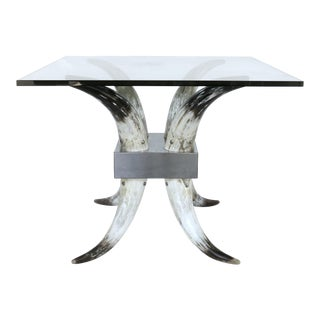 Modern Horn Glass Center Table For Sale