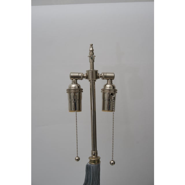 Sea Shell-Form Table Lamps in Aluminium - a Pair For Sale In West Palm - Image 6 of 7