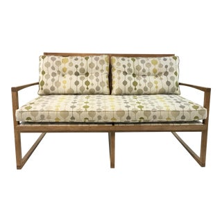 Mid-Century Danish Modern Style Milan Settee By: Currey & Co. For Sale