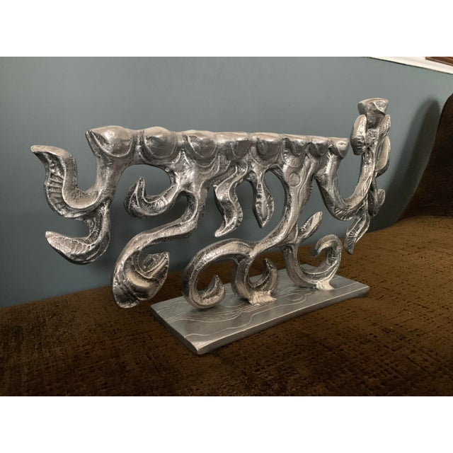 Donald Drumm Brutalist 1970s Menorah by Donald Drumm For Sale - Image 4 of 11