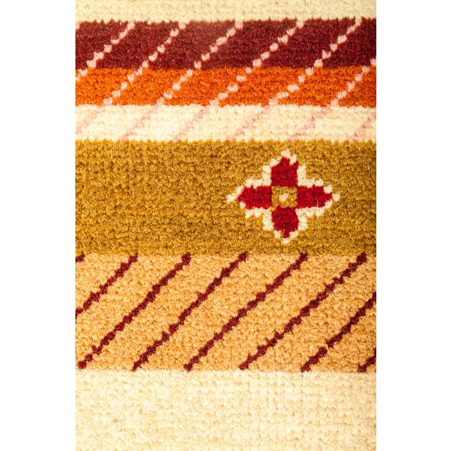 "Striped Hand Knotted Area Rug - 2'1"" X 2'1"" - Image 3 of 3"