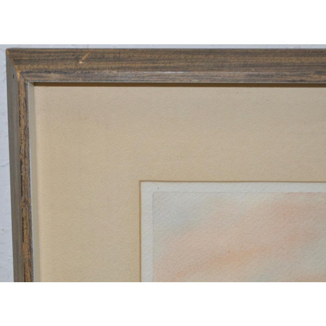 """John B. Munroe """"Desert Tranquility"""" Watercolor c.1960s For Sale In San Francisco - Image 6 of 9"""