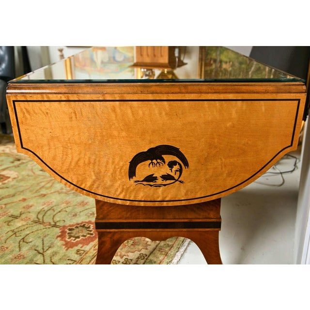 Early 20th Century Art Nouveau Satinwood Sofa Table For Sale - Image 5 of 10