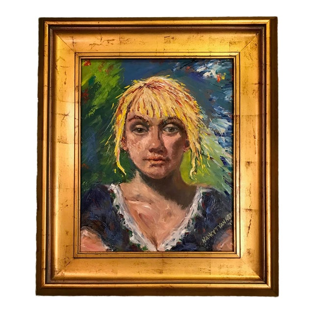 'The Barmaid' Original Oil Signed & Framed Painting For Sale