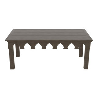 Oomph Ocean Drive Rectangle Outdoor Coffee Table, Dark Gray For Sale