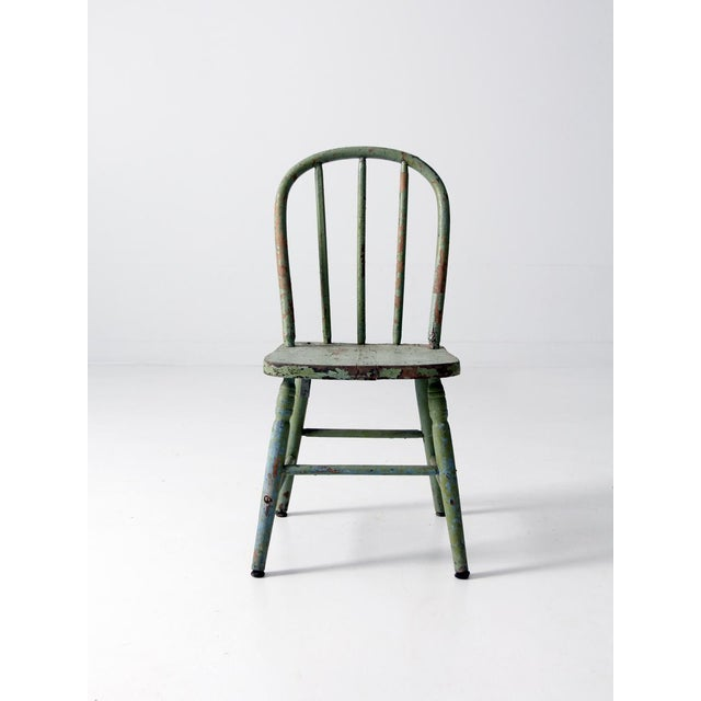 Antique Children's Chair With Spindle Back - Image 3 ... - Antique Children's Chair With Spindle Back Chairish