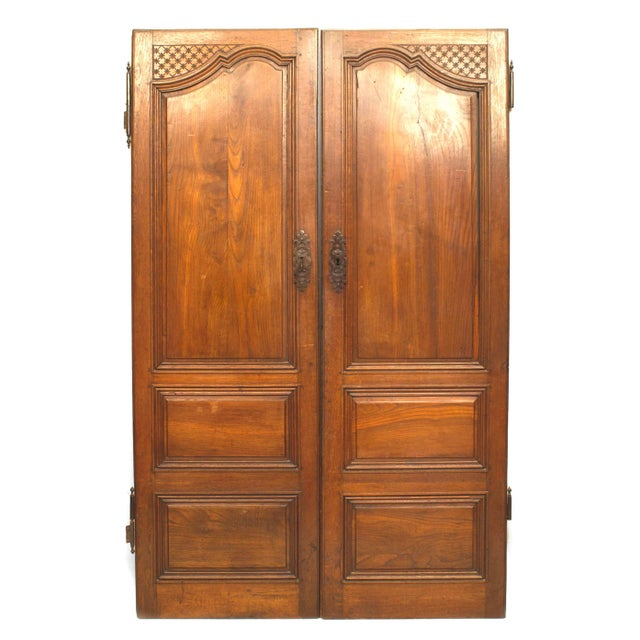 Pair of 18th Century French Provincial Walnut Doors For Sale In New York - Image 6 of 6