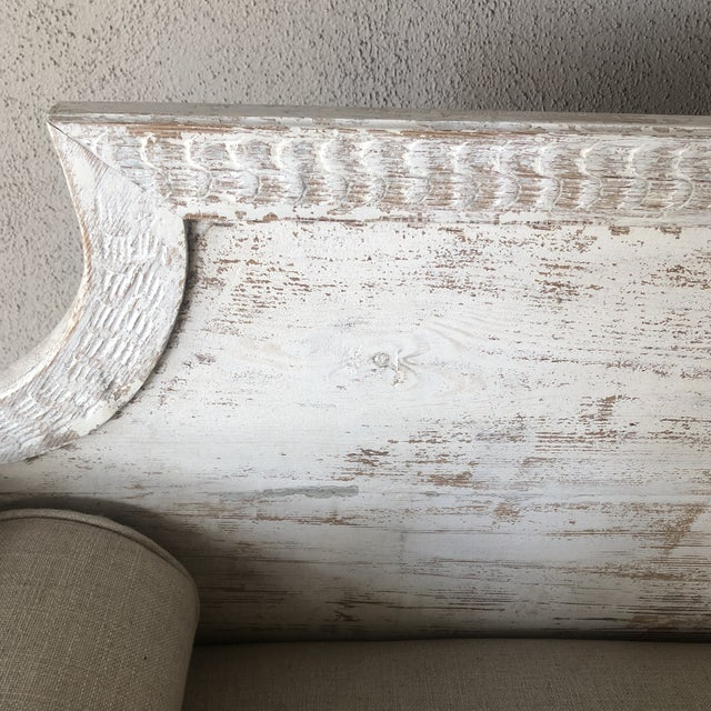 Vintage Gustavian Newly Upholstered Daybed For Sale - Image 11 of 13