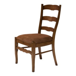 Vernay Walnut Ladderback Side Chairs - a Pair