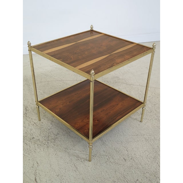 Traditional 1990s Vintage Baker Rosewood & Brass Directoire Occasional Table For Sale - Image 3 of 11