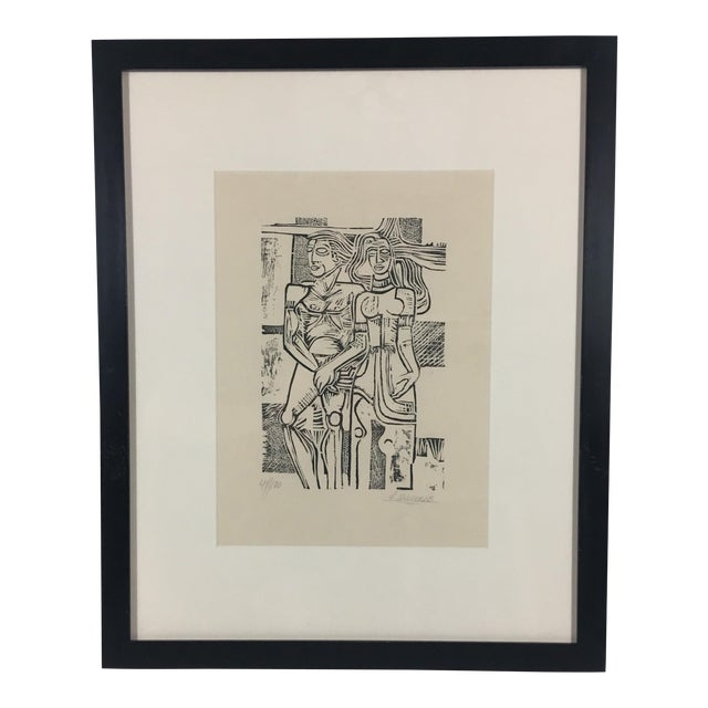 South American Etching on Paper For Sale