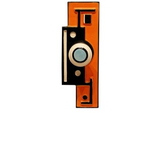 Mid-Century Modern Orange and Lucite Table Sculpture Escutcheon Fernand Leger For Sale
