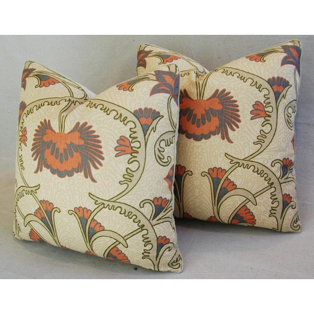 Fabric Designer Home Couture Contessa Linen Pillows - A Pair For Sale - Image 7 of 10