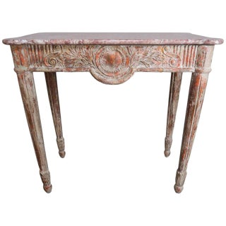 French Louis XVI Style Marble-Top Console For Sale