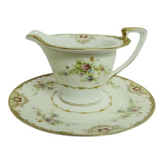 Mid 20th Century Empress China Creamer With Underplate - 2 Pieces For Sale
