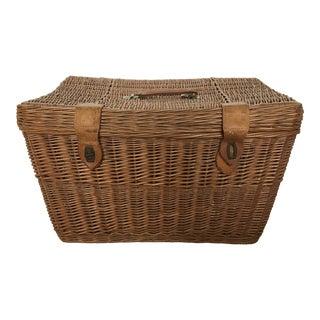 Vintage Basket Trunk With Handles For Sale
