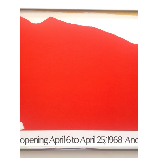 1970s Helen Frankenthaler Rare 1974 Mid Century Modern Abstract Expressionist Lithograph Print Framed Exhibition Poster For Sale - Image 5 of 13