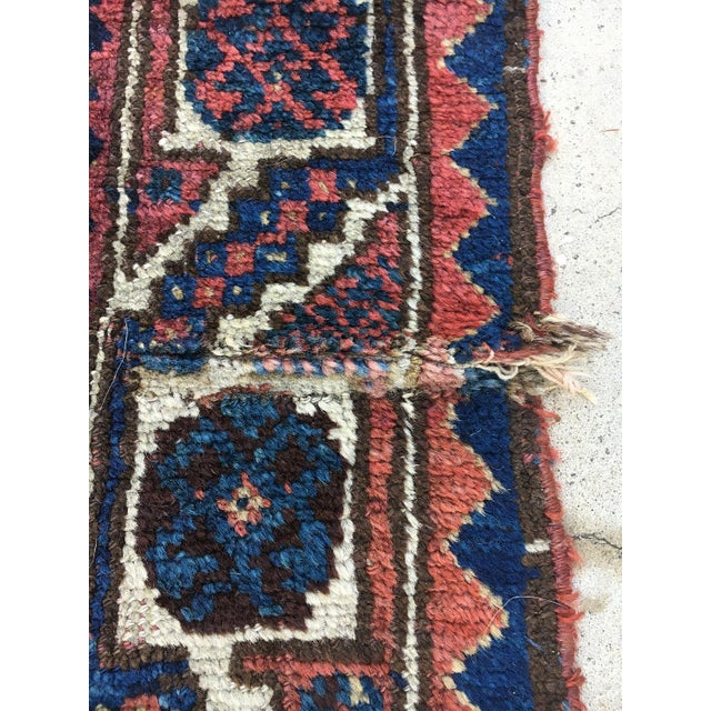 """19th Century Antique Afshar Runner - 9'4"""" x 4' For Sale In Los Angeles - Image 6 of 6"""
