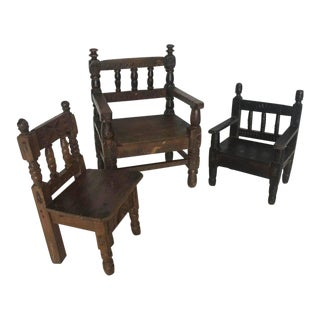 Antique Guatemalan Children's Chairs For Sale