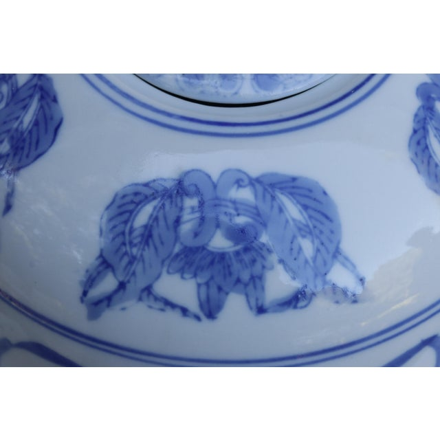 Chinoiserie Ceramic Ginger Jar With Lid For Sale - Image 4 of 6