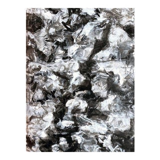 """Trixie Pitts's Striking Large Abstract Oil Painting """"Rock Pool"""""""