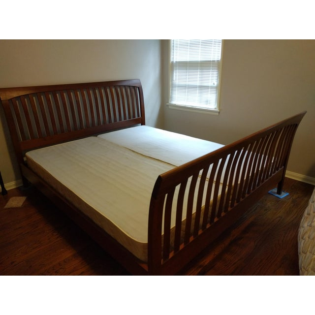 American Ethan Allen American Impressions Solid Cherry California King Bed For Sale - Image 3 of 9