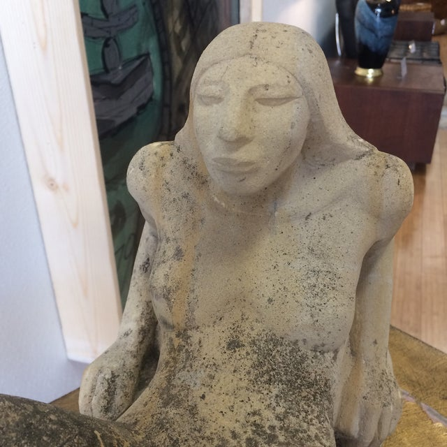 Puryear Mims Limestone Sculpture - Image 4 of 7