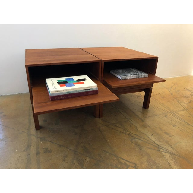 Danish Nightstands by Johannes Aasbjerg - a Pair For Sale In San Francisco - Image 6 of 8