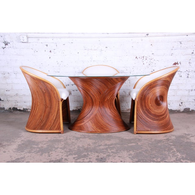 Willow and Reed Henry Olko Mid-Century Bamboo Dining Set, Circa 1978 For Sale - Image 4 of 13