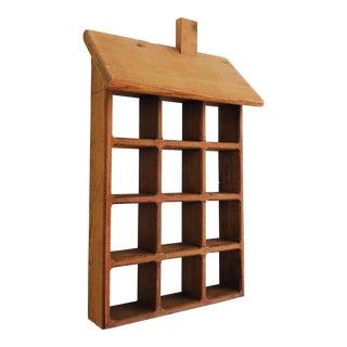 Vintage Wood House Curio Shelf For Sale