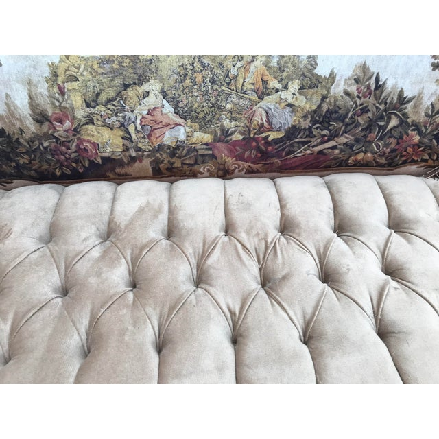 1900 - 1909 French Louis XVI Style Corbeille Sofa For Sale - Image 5 of 7