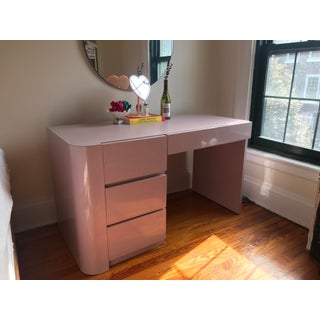 Vintage Art Deco Pink Waterfall Desk Preview