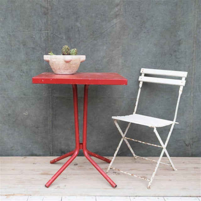 Vintage French Red Garden Table - Image 4 of 8