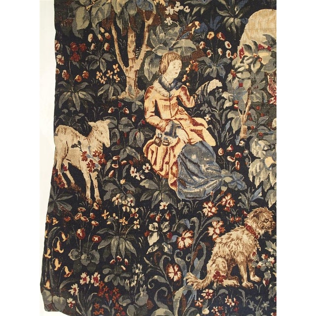 French Medieval Style Tapestry from France, 20th Century For Sale - Image 3 of 12