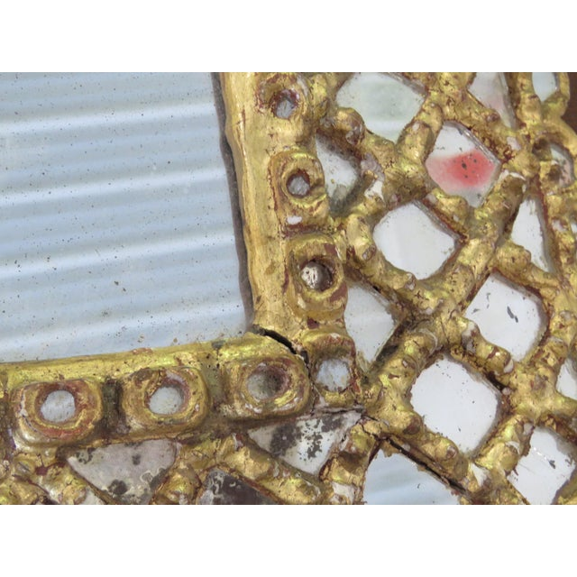 Gold Antique Accent Mirror For Sale - Image 8 of 10