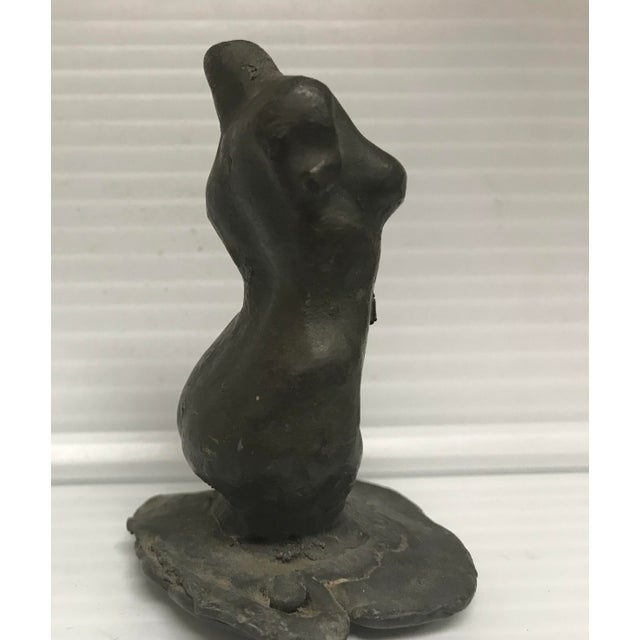 1970s 1970s Figurative Lead Female Nude Sculpture For Sale - Image 5 of 7