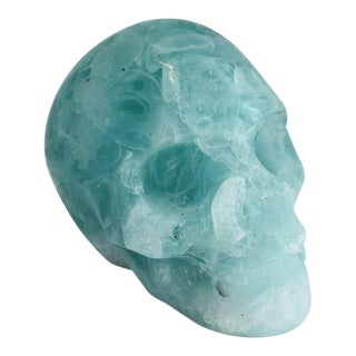 Skull Cast in Folded Glass For Sale