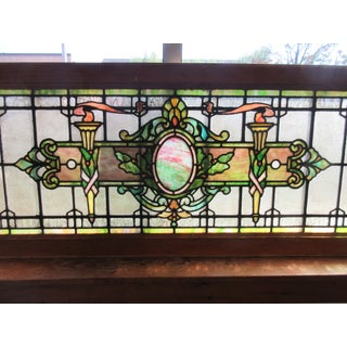Early 20th Century Stained Glass Transom Window Preview
