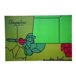 """Vintage Mid 20th C. Ltd. Ed Dbl. Page Lithograph-Derriere Le Miroir-Maeght, Paris"""" For Sale"""