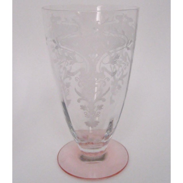 Etched Fluted Glasses - Set of 6 - Image 5 of 6