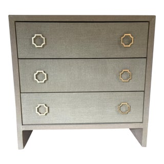 Grasscloth Wrapped Chest of Drawers For Sale