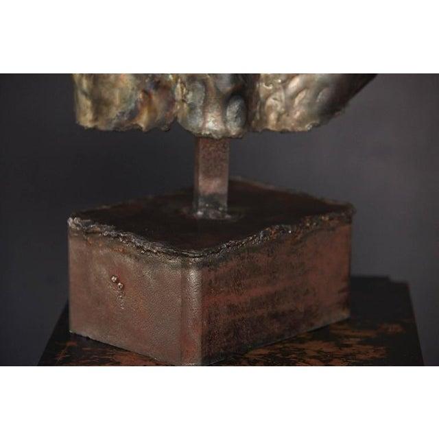 Metal Brutalist Bronze Sculpture of a Female Torso For Sale - Image 7 of 9
